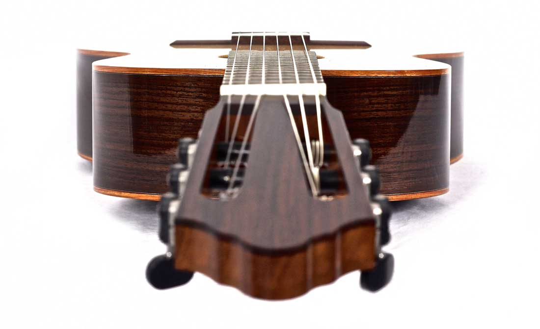 Classical Guitar seen from head