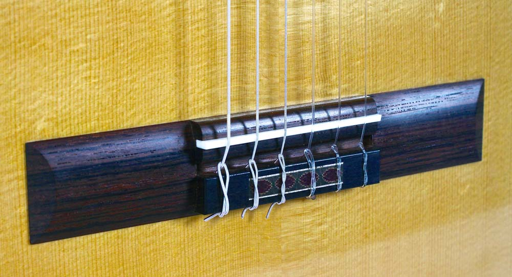 Ebony guitar bridge